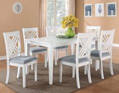 Brooklyn+White+7+Piece+Dinette+Set 498$@ american freight furniture