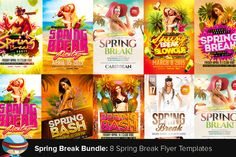 Check out Spring Break Bundle by FlyerHeroes on Creative Market
