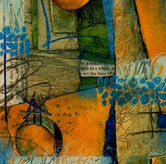 Collage art of Laura Lein-Svencner: Tack Down Tuesday's. rich and vibrant colors!