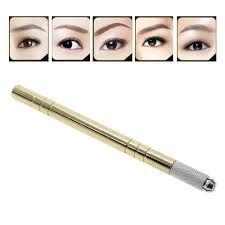 Hot Sale Golden Pen Tattoo Machine For Permanent Makeup Eyebrow Tattoo Manual Pen 0094 Eyeliner Make-up, Eyeliner Images, Permanent Lipstick, Permanent Makeup Eyebrows, Eyebrow Makeup, Makeup Swatches, Makeup Dupes, Makeup Lipstick, Pen Tattoo