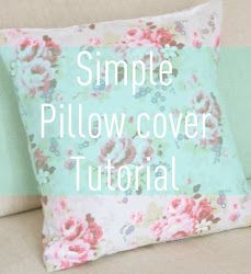 MessyJesse: Simple Envelope Cushion Cover Tutorial #Cushion #Tutorial #DIY #Craft #Sewing