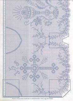 Filet crochet - Majida Awashreh - Álbuns da web do Picasa Crochet Lace Edging, Crochet Borders, Crochet Cross, Thread Crochet, Love Crochet, Crochet Stitches, Cross Stitch Borders, Cross Stitch Charts, Cross Stitching