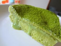 """Matcha tea """"3 leches"""" with creamy filling"""
