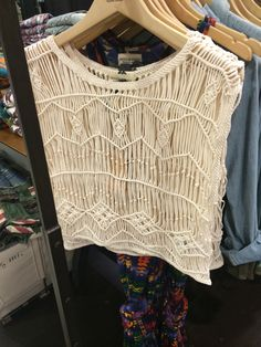 Macrame top in David Jones Melbourne $119.00 summer 2014/15