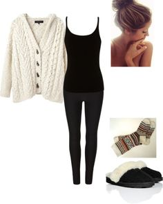 """""""Lazy home outfit"""" by andreahanny on Polyvore"""