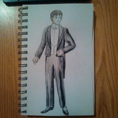 #fabercastell #watercolor #pencils again, with this #youngman dressed in typical #late1800s #formal attire.  #art #artistic #artoftheday #conceptdrawing #drawing #drawingaday #sketch #sketchaday