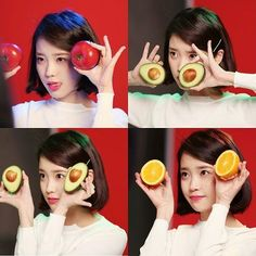 IU palette w/ fruits Real Angels, Blackpink And Bts, Hair Reference, Moon Lovers, Talent Agency, K Idol, Korean Celebrities, Queen, Her Music