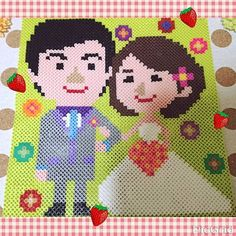 Couple - Wedding perler beads by yukaremon