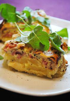 Ofen-Tortilla mit Kartoffeln & Champignons