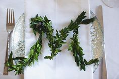 Boxwood monograms for your guests | Easy DIY Tricks to Spice Up Your Wedding