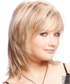 12. #Casual Medium - 27 #Flattering Hairstyles for #round Faces ... → Hair #Length