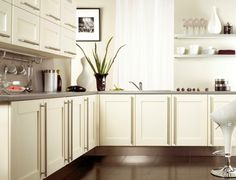 cream cabinets grey floor images - Google Search