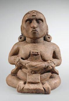 Statuette anthropomorphe assise Culture Maya Région des Hautes Terres, Guatemala Classique, 600-900 ap. J.-C. - Sotheby's