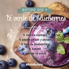 Batido Té Verde de Blueberries   Reto Batidos