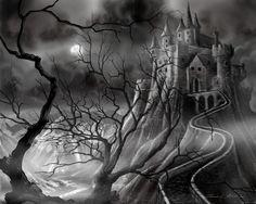 The Dark Castle Painting  - The Dark Castle Fine Art Print