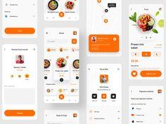 Eatko Food delivery Ui kit by Venus Studio 🪐 on Dribbble Mobile Ui Design, App Ui Design, Menu Design, Interface Design, Directory Design, Delivery App, Mobile App Ui, Order Food, Thing 1