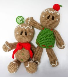 Gingerbread man PDF Pattern (Amigurumi Crochet Pattern). $5.30, via Etsy.