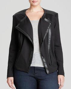 Plus Size Ponte Moto Jacket