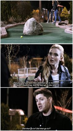 """""""Did that go in the hole?"""" - 10x20 Angel Heart [gifset] Loved this scene :)"""