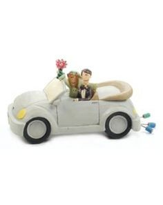 Beetle Car Wedding Cake Topper. $16.95