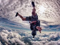 Everything's better with friends. Ralph Turner took this amazing shot of his pal Dexter Marcelino skydiving over Miami.