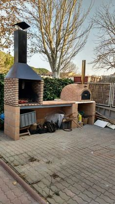 85 Beautiful outdoor kitchen and grill for summer garden ideas - # outdoor . 85 beautiful outdoor kitchen and grill for summer garden ideas –# Outdoor kitchen ideas Outdoor Kitchen Grill, Pizza Oven Outdoor, Backyard Kitchen, Outdoor Kitchen Design, Backyard Patio, Backyard Landscaping, Backyard Ideas, Outdoor Kitchens, Outdoor Bars