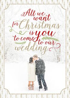 Find This Pin And More On Christmas Wedding Holiday Photo Save The Date