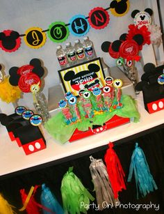 mickey mouse clubhouse birthday parties | Mickey Mouse Clubhouse Birthday party Idea - by Party On! | Tate