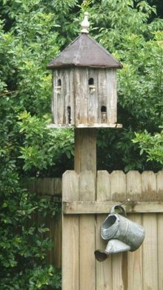 we all need a beautiful birdhouse in the garden.