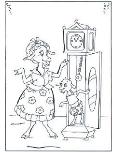 Coloring for adults - Kleuren voor volwassenen Coloring Pages For Kids, Adult Coloring, Coloring Books, Fairy Tale Activities, Activities For Kids, Father Time, Animal Projects, Teaching Kindergarten, Preschool Worksheets
