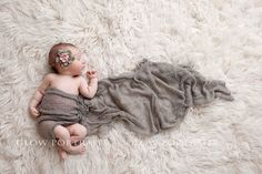 Glow Portraits newborn- cute idea with cheesecloth
