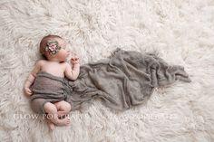 Glow Portraits newborn- cute idea with cheesecloth