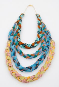 Braided Fabric Necklace by Thief and Bandit.