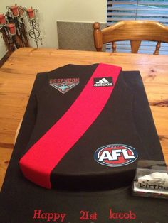 Essendon jumper by Vanilla Rose Cakery Essendon Football Club, 1st Birthday Parties, Birthday Cake, Cake Decorating, Jumper, Vanilla, Cakes, Rose, Party