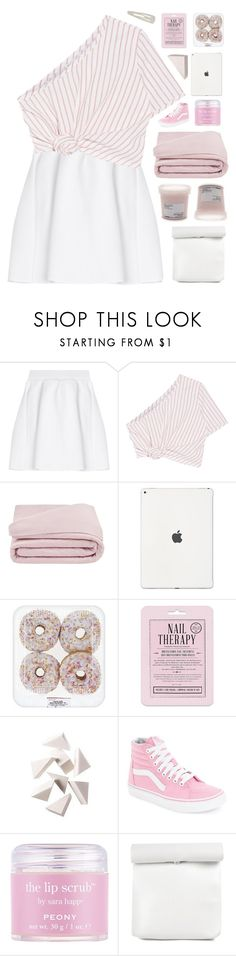 """""""empower!"""" by amazing-abby ❤ liked on Polyvore featuring malo, Rosie Assoulin, Frette, Love 21, Bobbi Brown Cosmetics, Vans, Sara Happ and Forever 21"""