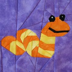 Slimey the Worm, Designed by Michelle Thompson (a free paper pieced pattern)