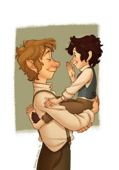 Bilbo and little Frodo < I'm sorry but I see hobbit John and baby hobbit Sherlock!<<<I see both omg Legolas, Gandalf, Thranduil, The Middle, Middle Earth, Narnia, Lotr, Doctor Who, J. R. R. Tolkien