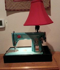 Finished the sewing machine lamp for my daughter's Christmas present