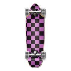 Purple checker Mini Cruiser Longboard Skateboard