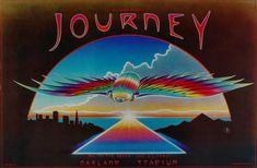 Journey Vintage Concert Poster from Oakland Coliseum Stadium, Jul 1980 at Wolfgang's Journey Concert, Journey Music, Journey Band, Tour Posters, Band Posters, Journey Tattoo, Oakland Coliseum, Rock Album Covers, Vintage Concert Posters