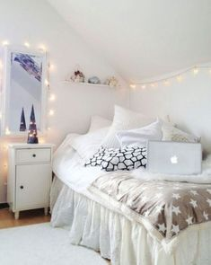 I adore the lights, and the duvet works well but I'm not sure about the star comforter.