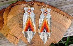 Vanilla Fire Earrings by wildmintjewelry on Etsy, $84.00
