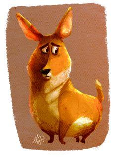Corgi Dog by MegPrk.deviantart.com on @deviantART