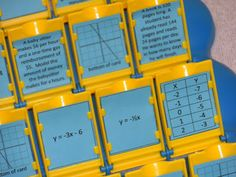 i is a number: Guess Who- Linear Functions