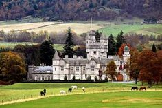 Balmoral castle...the Queen's vacation home.
