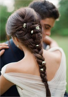 Wonderful Braided hairstyles for Brides to Mesmerize Anyone   Hairstyles Charm Braided Hairstyles For Wedding, Party Hairstyles, Bride Hairstyles, Down Hairstyles, Bridal Braids, Bridal Hair, Strapless Dress Hairstyles, Diy Wedding Hair, Stunning Wedding Dresses