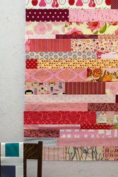 scrap quilt by pink chalk studio, via Flickr