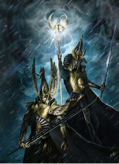Twin brothers Tyrion and Teclis from the eternal sun-blessed lands of the High Elves, Ulthuan. The greatest to heroes in the old world, arguably equal to Aenarion the first Pheonix King and Caledor Dragontamer, the first archmage. Together they are the most potent force on the earth.