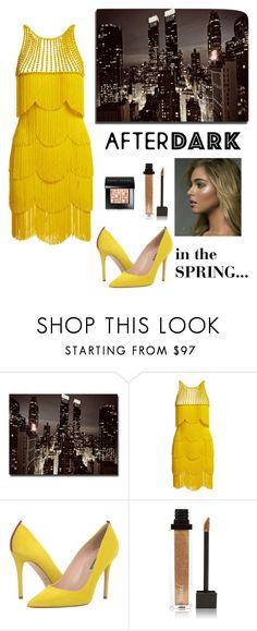 """Spring After Dark"" by kotnourka ❤ liked on Polyvore featuring Trademark Fine Art, Naeem Khan, SJP, Jouer and Bobbi Brown Cosmetics"