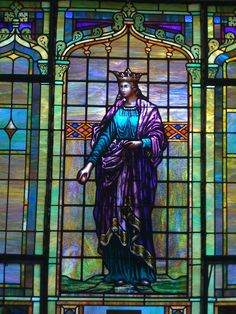 """I've always had a fascination with stained-glass windows. This is """"King David"""" from our church foyer."""